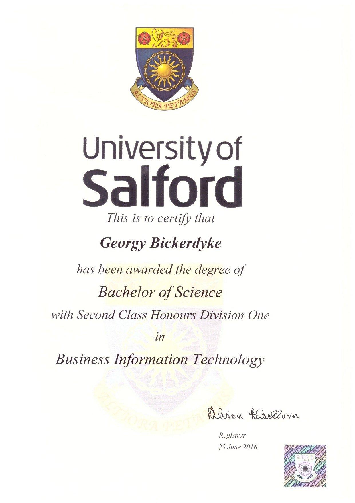Georgy Bickerdyke Business Information Technology